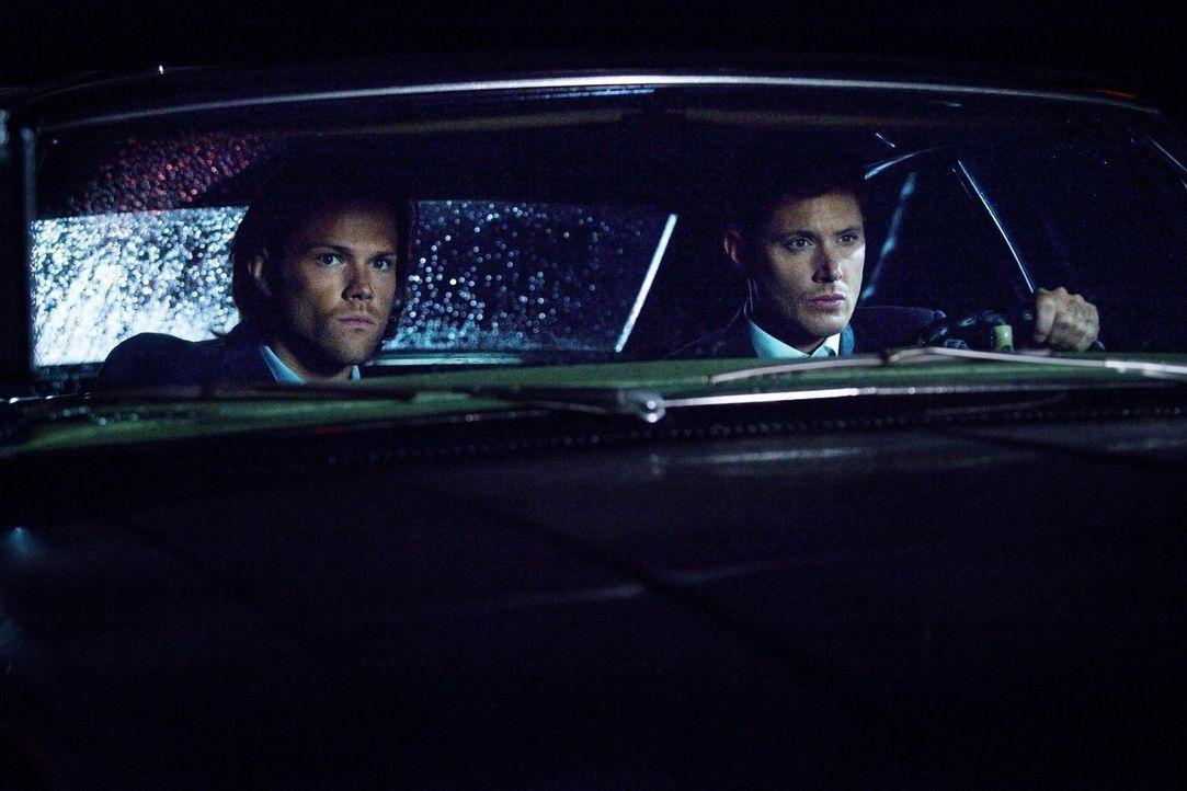 Noch ahnen Sam (Jared Padalecki, l.) und Dean (Jensen Ackles, r.) nicht, mit welchen üblen Tricks von Crowley Kevin im Bunker zu kämpfen hat ... - Bildquelle: 2013 Warner Brothers