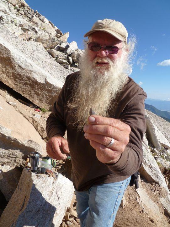 Keith O'Donnel, der Sohn der vorigen Besitzerin und Namensgeberin der Blue-Rose-Mine, versucht sein Glück, bevor der Winter der Schatzsuche ein Ende... - Bildquelle: High Noon Entertainment 2014