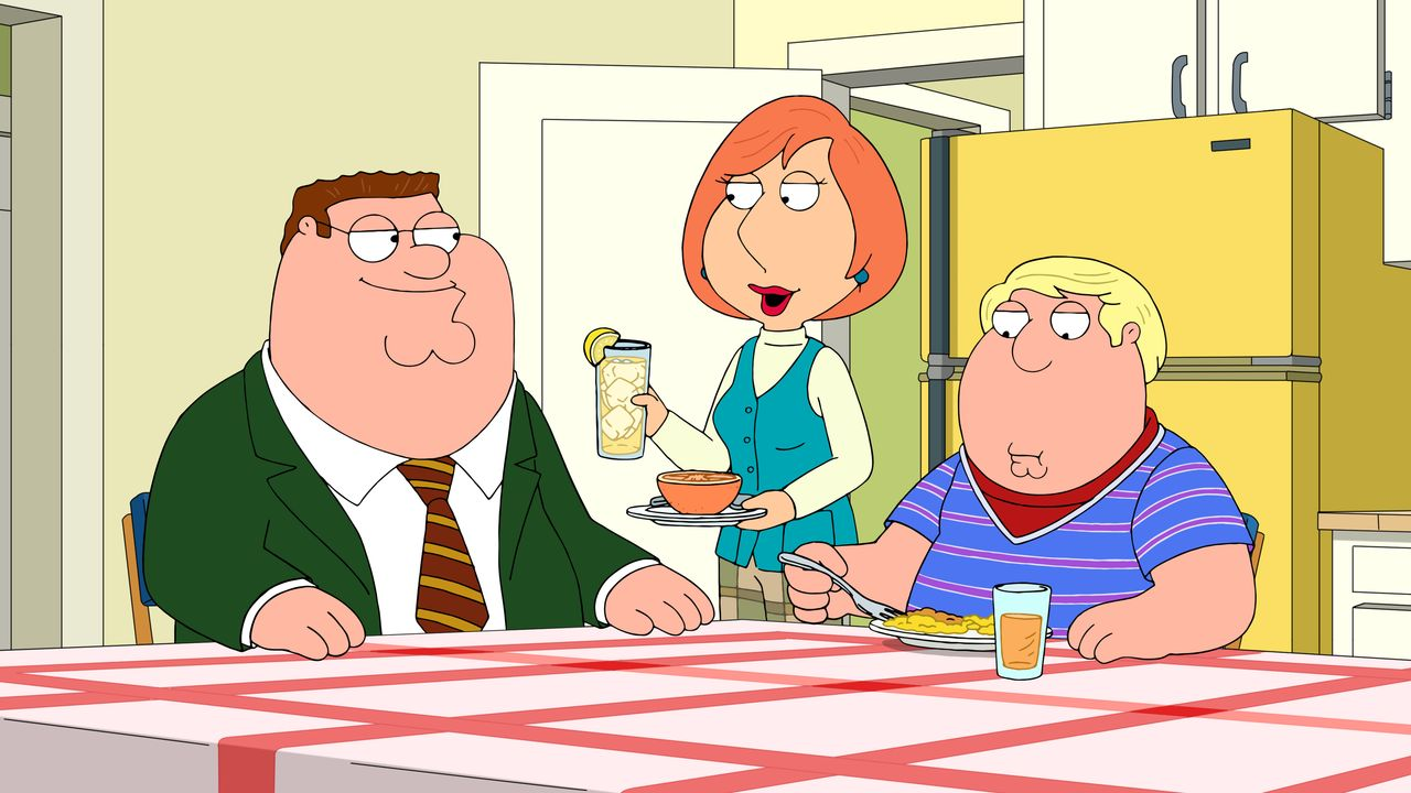 (v.l.n.r.) Peter Griffin; Lois Griffin; Chris Griffin - Bildquelle: 2018-2019 Fox and its related entities. All rights reserved.