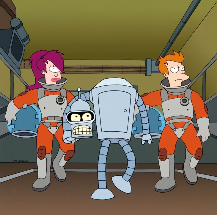 (v.l.n.r.) Leela; Bender; Fry - Bildquelle: 1999 Fox and its related entities. All rights reserved.