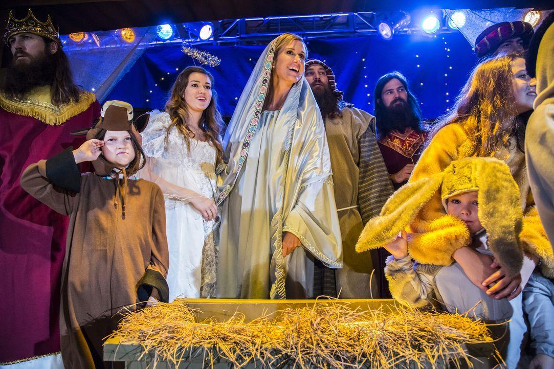 Gehen beim Krippenspiel ihrer Gemeinde vollends auf: die Robertsons (v.l.n.r.: Jase, Sadie, Korie, Willie, Jep) ... - Bildquelle: 2012 A+E Networks