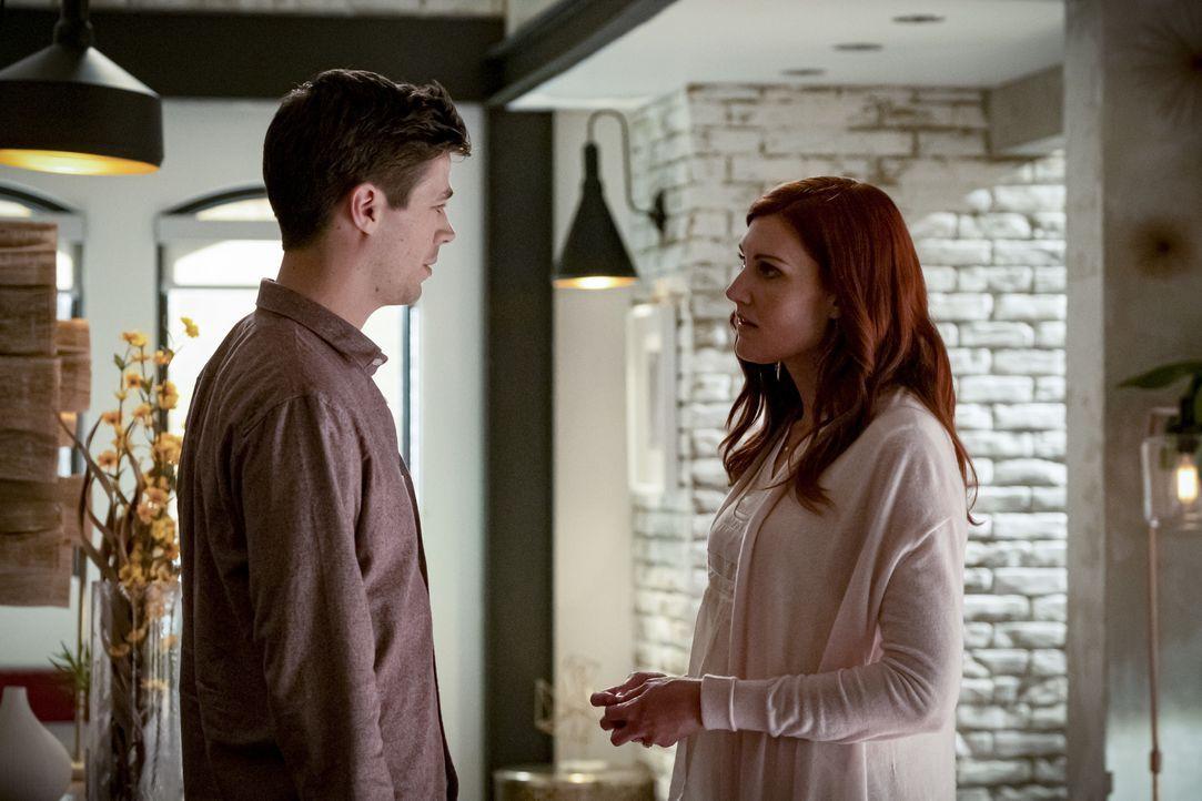 Barry Allen (Grant Gustin, l.); Nora Allen (Michelle Harrison, r.) - Bildquelle: Katie Yu 2019 The CW Network, LLC. All rights reserved. / Katie Yu