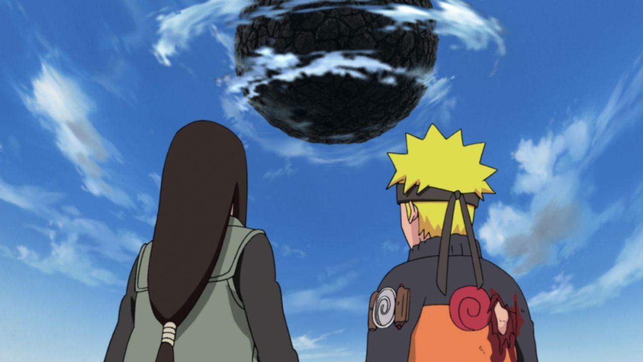 (v.l.n.r.) Neji Hyuuga; Naruto Uzumaki - Bildquelle: 2002 MASASHI KISHIMOTO / 2007 SHIPPUDEN