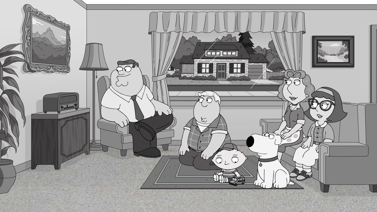 (v.l.n.r.) Peter Griffin; Chris Griffin; Stewie Griffin; Brian Griffin; Lois Griffin; Meg Griffin - Bildquelle: 2018-2019 Fox and its related entities. All rights reserved.