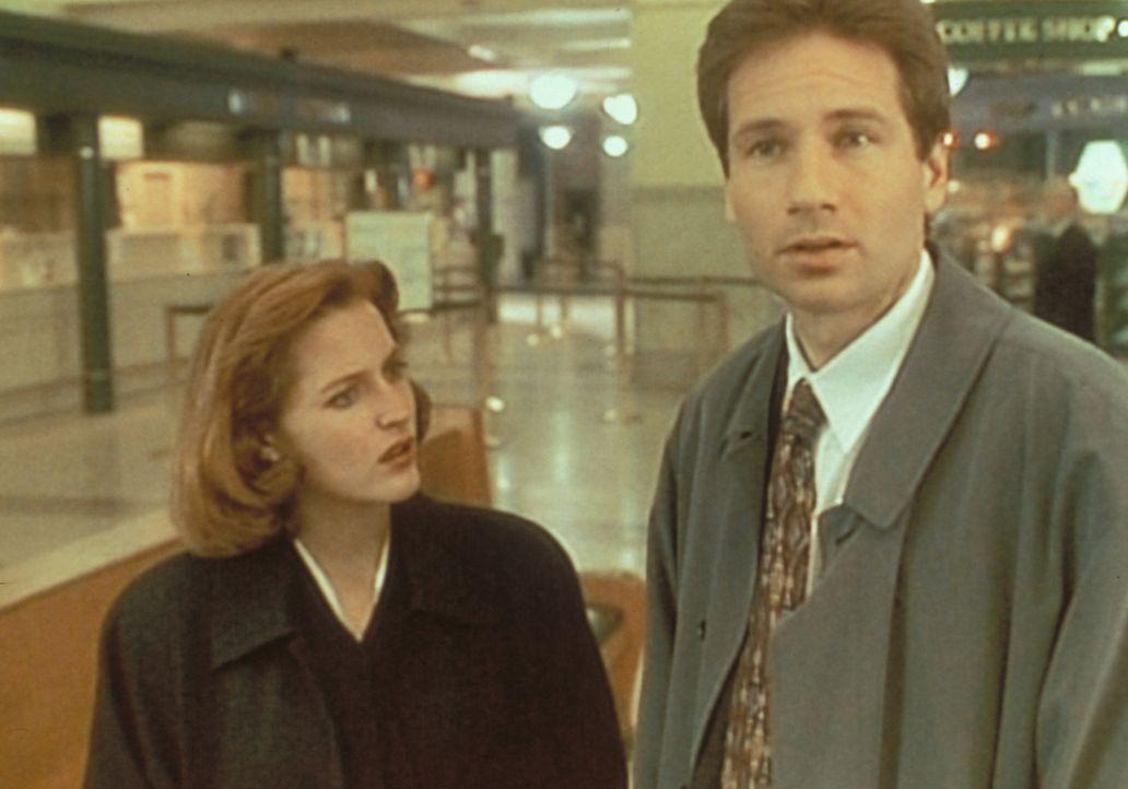Am Bahnhof von Richmond versuchen Scully (Gillian Anderson, l.) und Mulder (David Duchovny, r.), einen Mann ausfindig zu machen, der dort offenbar s... - Bildquelle: TM +   Twentieth Century Fox Film Corporation. All Rights Reserved.