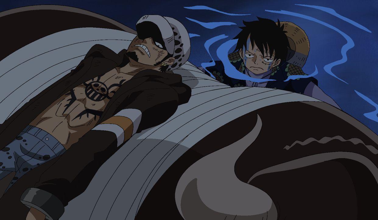 Trafalgar D. Law (l.); Ruffy (r.) - Bildquelle: Eiichiro Oda/Shueisha, Toei Animation