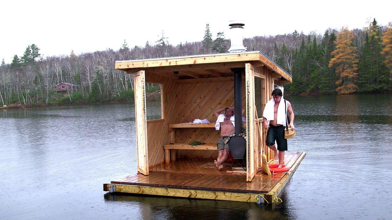 Ein neues Projekt, eine schwimmende Sauna, wartet auf die Brüder Kevin (r.) und Andrew (l.) ... - Bildquelle: Brojects Ontario Ltd./Brojects NS Ltd