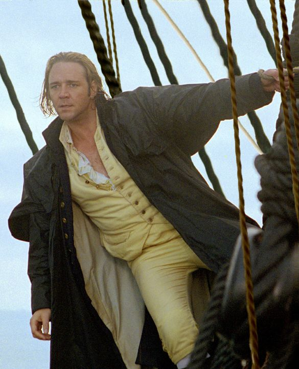 "1805, die Napoleonischen Kriege bedrohen immer mehr auch die Seemacht England. ""Lucky"" Jack Aubrey (Russell Crowe) ist Kapitän des britischen Schiff... - Bildquelle: 2003 Twentieth Century Fox Film Corporation, Miramax Film Corp. and Universal City Studios LLLP. All rights reserved."