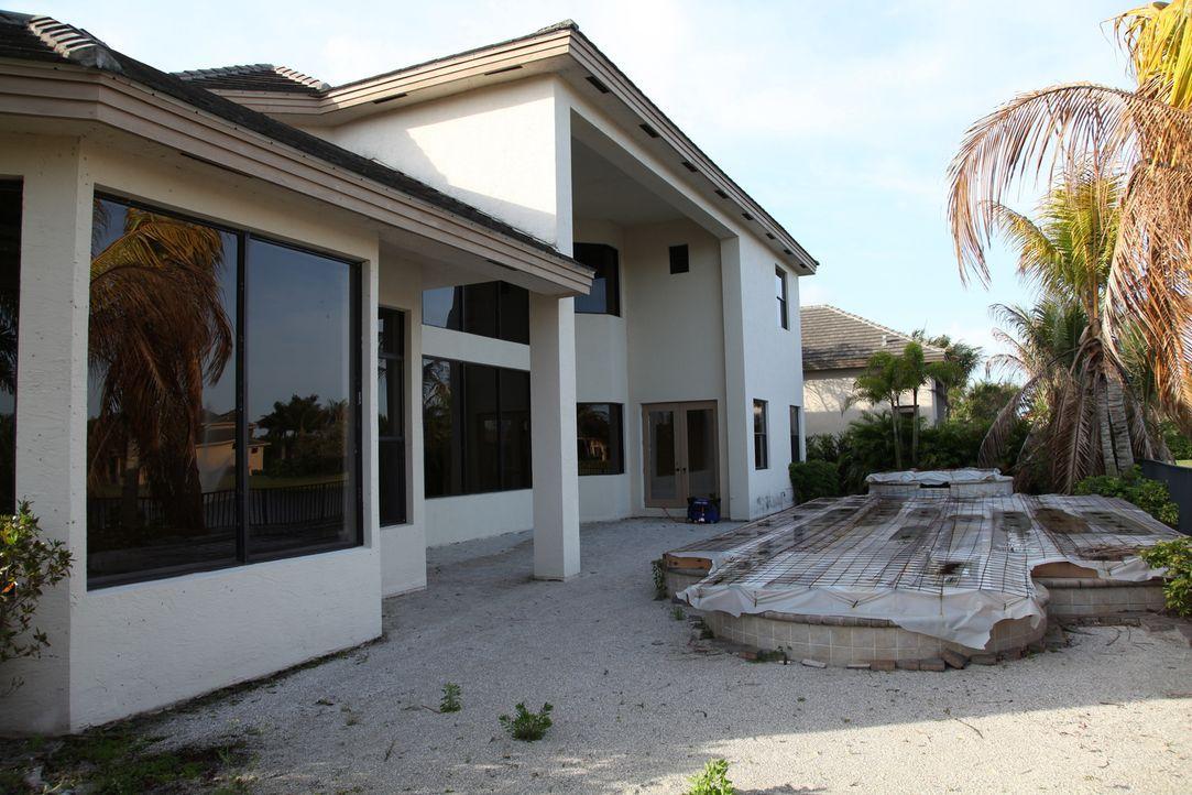 Als nächstes nehmen Vanilla Ice und sein Team den Garten in Angriff, denn mit so einem Pool können sie keinen potenziellen Käufer überzeugen ... - Bildquelle: 2010, DIY Network/Scripps Networks, LLC.  All Rights Reserved
