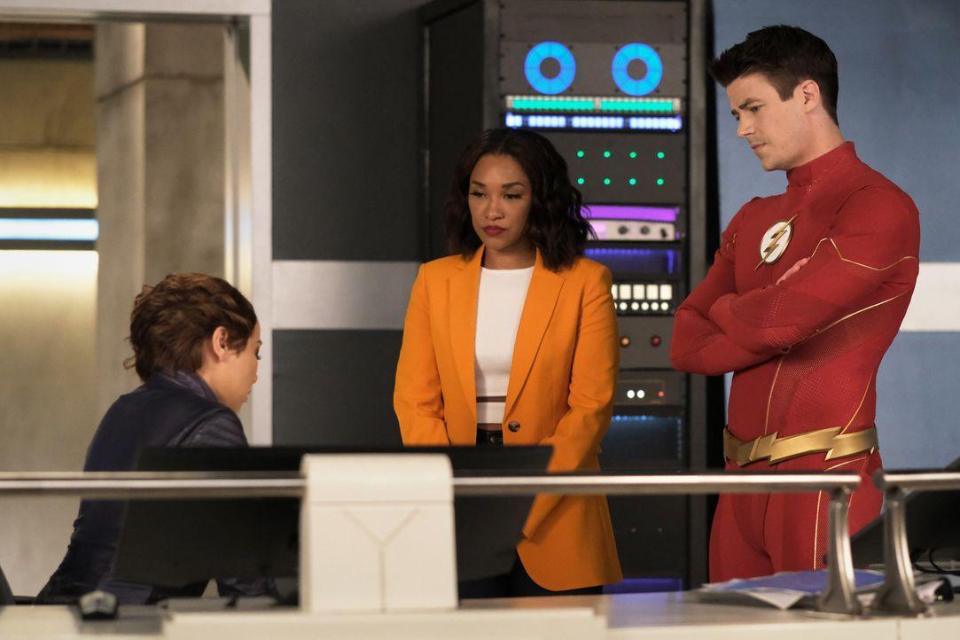(v.l.n.r.) XS (Jessica Parker Kennedy); Iris West-Allen (Candice Patton); The Flash (Grant Gustin) - Bildquelle: Warner Bros. Entertainment Inc. All Rights Reserved.