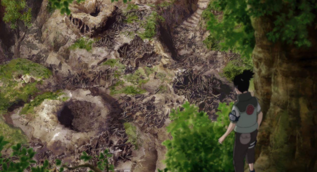 Als Naruto, Sakura und Shikamaru (Bild) in dem Dorf ankommen, müssen sie feststellen, dass es attackiert wurde. Doch wer steckt hinter dieser schrec... - Bildquelle: 2002 Masashi Kishimoto.   NMP 2005.