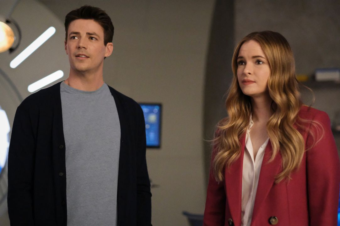 Barry Allen (Grant Gustin, l.); Caitlin Snow (Danielle Panabaker, r.) - Bildquelle: Warner Bros. Entertainment Inc. All Rights Reserved.