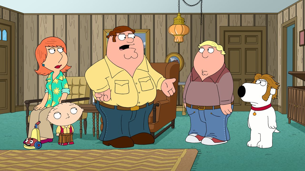 (v.l.n.r.) Lois Griffin; Stewie Griffin; Peter Griffin; Chris Griffin; Brian Griffin - Bildquelle: 2018-2019 Fox and its related entities. All rights reserved.