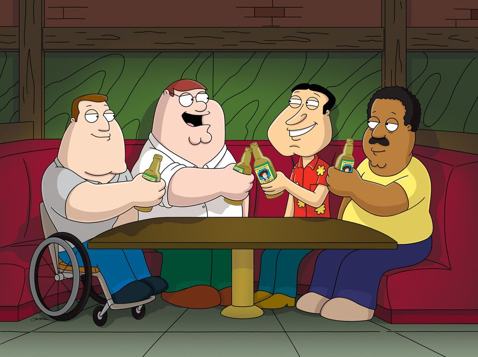 (v.l.n.r.) Joe Swanson; Peter Griffin; Glenn Quagmire; Cleveland Brown - Bildquelle: 2005 Fox and its related entities. All rights reserved.