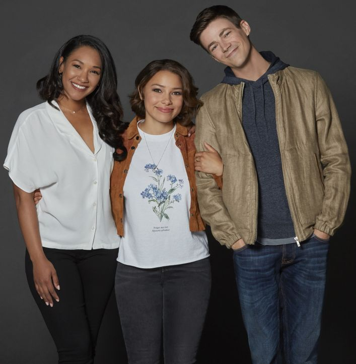 (5. Staffel) - (v.l.n.r.) Iris (Candice Patton); Nora alias XS (Jessica Parker Kennedy); Barry (Grant Gustin) - Bildquelle: Katie Yu 2018 The CW Network, LLC. All rights reserved./Katie Yu