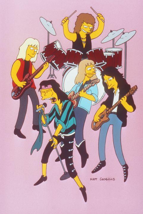 Moes Kneipe platzt aus allen Nähten. Sogar die Musikgruppe 'Aerosmith' gönnt sich den super Drink  'Flaming Moe'. - Bildquelle: und TM Twenthieth Century Fox Film Corporation - Alle Rechte vorbehalten