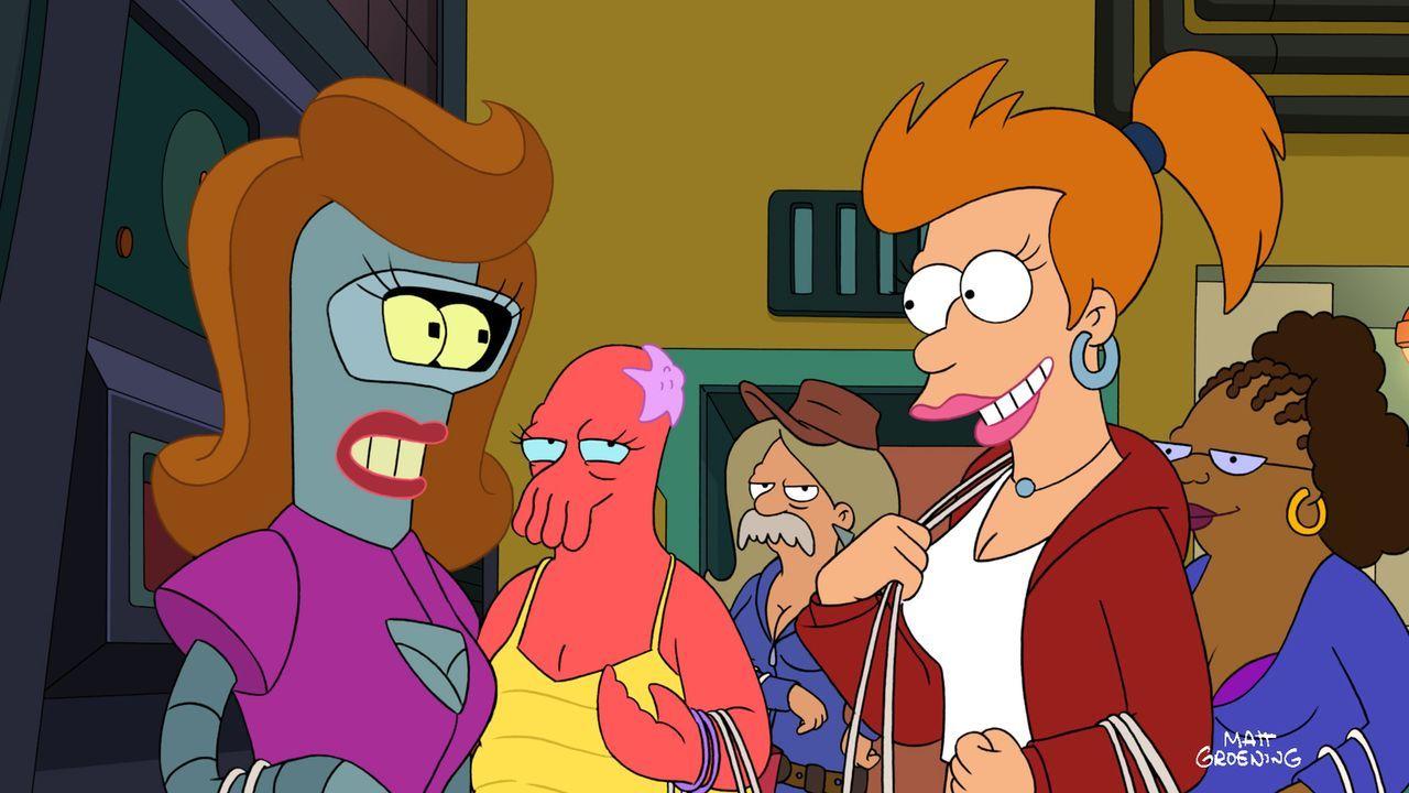 Durch den Fehler eines Aliens stecken nun Bender und auch Fry im falschen Körper ... - Bildquelle: 2011 Twentieth Century Fox Film Corporation. All rights reserved.