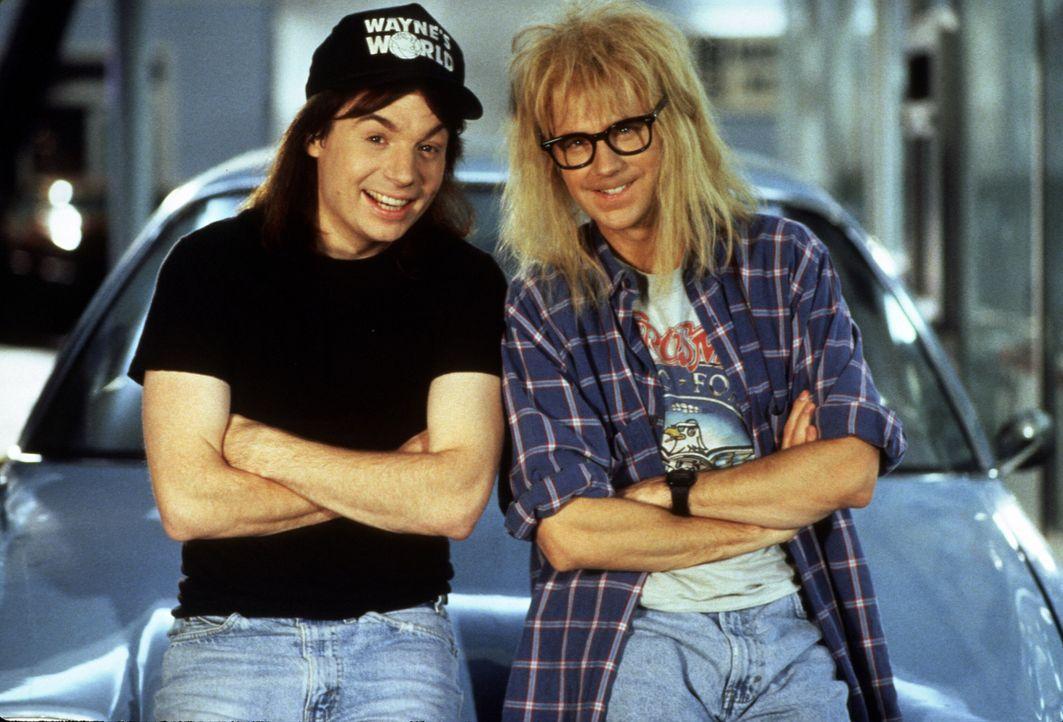 Die Chaoten Wayne (Mike Myers, l.) und Garth (Dana Carvey, r.) wollen ein riesiges Open-Air-Festival veranstalten - so wie es Jim Morrisons Geist be... - Bildquelle: Paramount Pictures