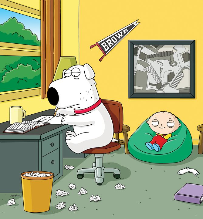 Brian Griffin (l.); Stewie Griffin (r.) - Bildquelle: 2005 Fox and its related entities. All rights reserved.