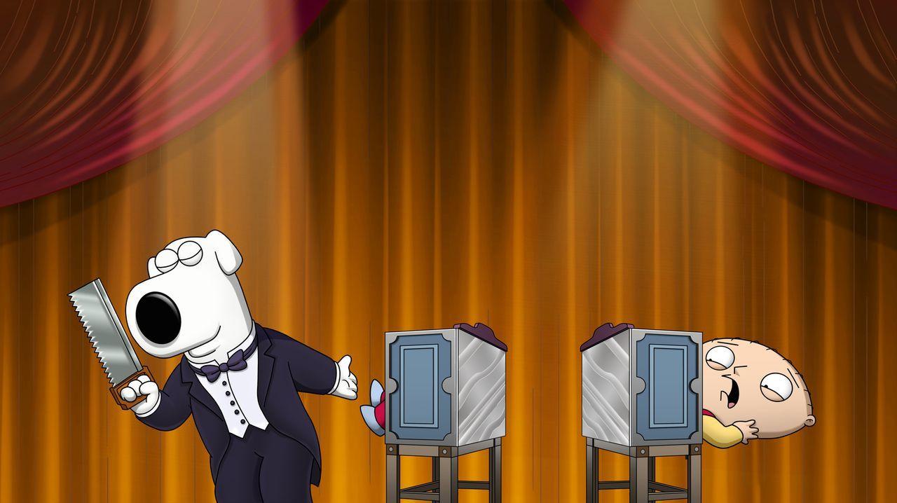 Beim Versuch, mit Brians neuer Teleportationsmaschine nach Las Vegas zu reisen, geht etwas schief: Brian (l.) und Stewie (r.) ... - Bildquelle: 2013 Twentieth Century Fox Film Corporation. All rights reserved.