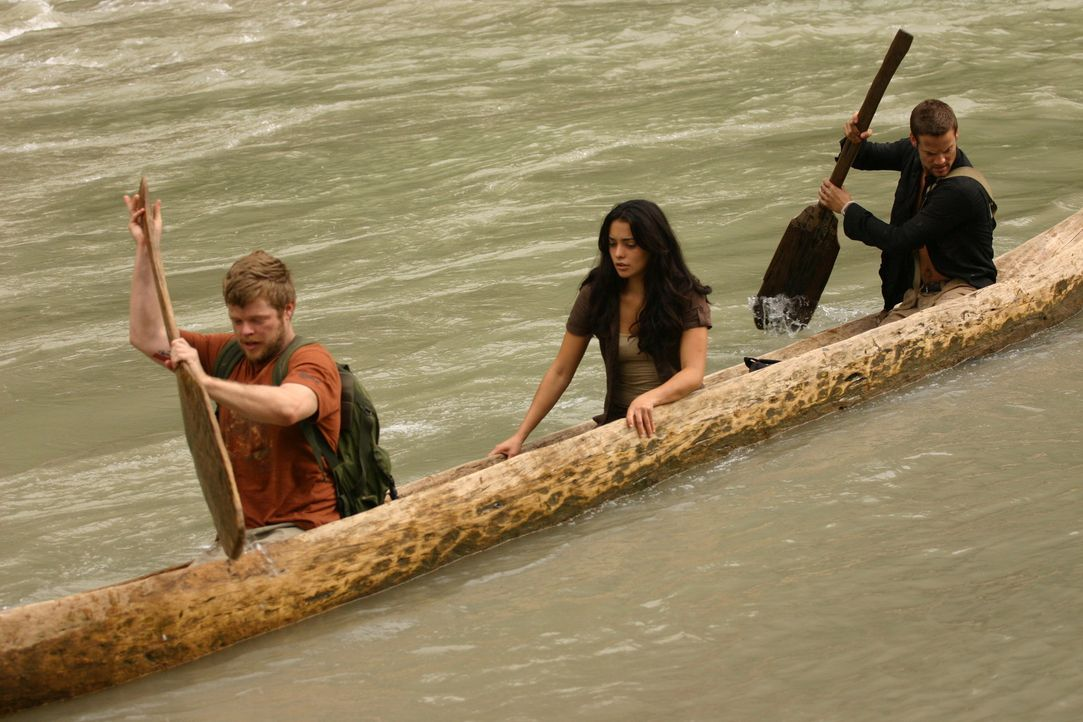 Auf der Suche nach der sagenumwobenen Stadt El Dorado: (v.l.n.r.) Gordon (Elden Henson), Maria (Natalie Martinez) und Jack (Shane West) ...