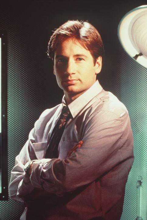 (1. Staffel) - FBI-Agent Fox Mulder (David Duchovny) befasst sich mit der Aufklärung längst abgelehnter Fälle, was seinen Vorgesetzten gar nicht... - Bildquelle: TM +   Twentieth Century Fox Film Corporation. All Rights Reserved.