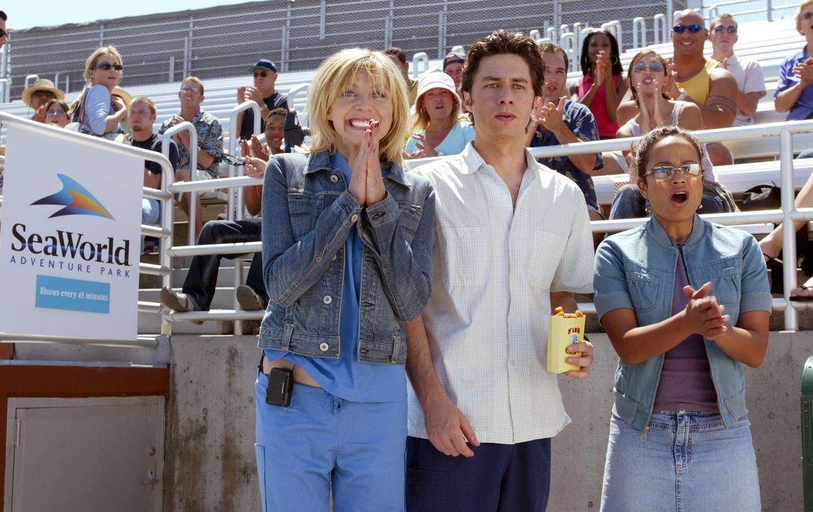 Verbringen einen netten Tag zusammen: Elliot (Sarah Chalke, l.), J.D. (Zach Braff, M.) und Carla (Judy Reyes, r.) ... - Bildquelle: Touchstone Television