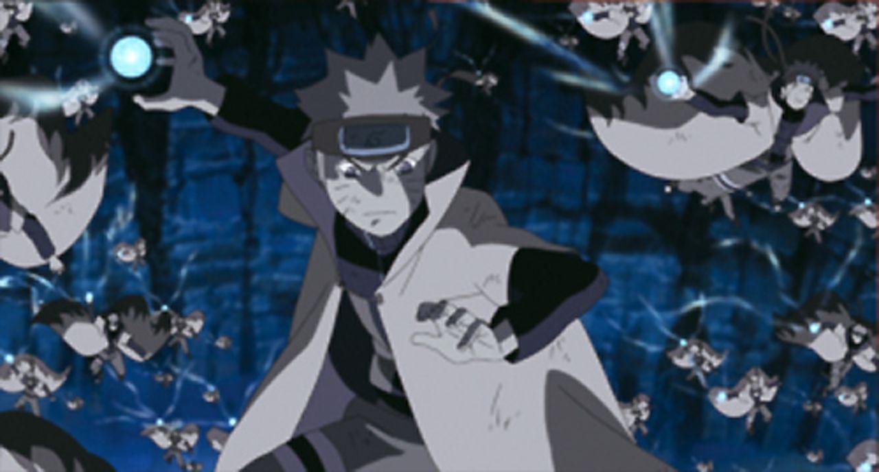 Naruto (M.) und Sakura werden von Tobi angegriffen und anschließend in eine Tsukuyomi-Welt gebracht, wo sich Charaktere völlig anders verhalten als... - Bildquelle: 2002 MASASHI KISHIMOTO /2007 Shippuden   NMP 2012