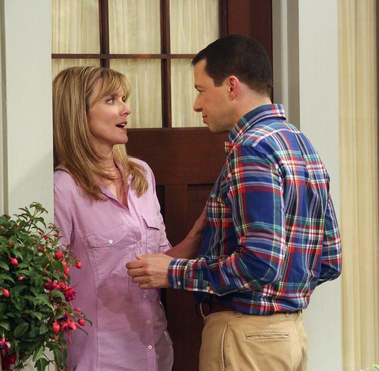Als sich Lyndsey (Courtney Thorne-Smith, l.) von Alan (Jon Cryer, r.) trennt, kann er damit gar nicht umgehen. Walden versucht, einen Weg zu finden,... - Bildquelle: Warner Brothers Entertainment Inc.