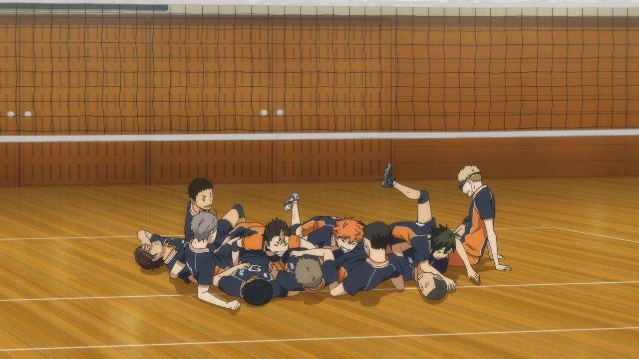 Das Team der Karasuno Oberschule - Bildquelle: H. Furudate / Shueisha, >HAIKYU!! 2nd Season< Project, MBS  All Rights Reserved.