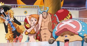 Brook, Nami, Franky und Chopper an Deck
