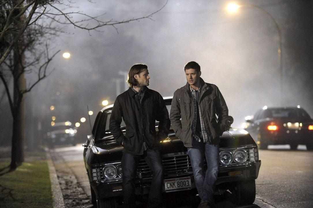 Noch ahnen Sam (Jared Padalecki, l.) und Dean (Jensen Ackles, r.) nicht, dass ein erbitterter Machtkampf unter bösartigen Geschöpfen unmittelbar bev... - Bildquelle: 2013 Warner Brothers