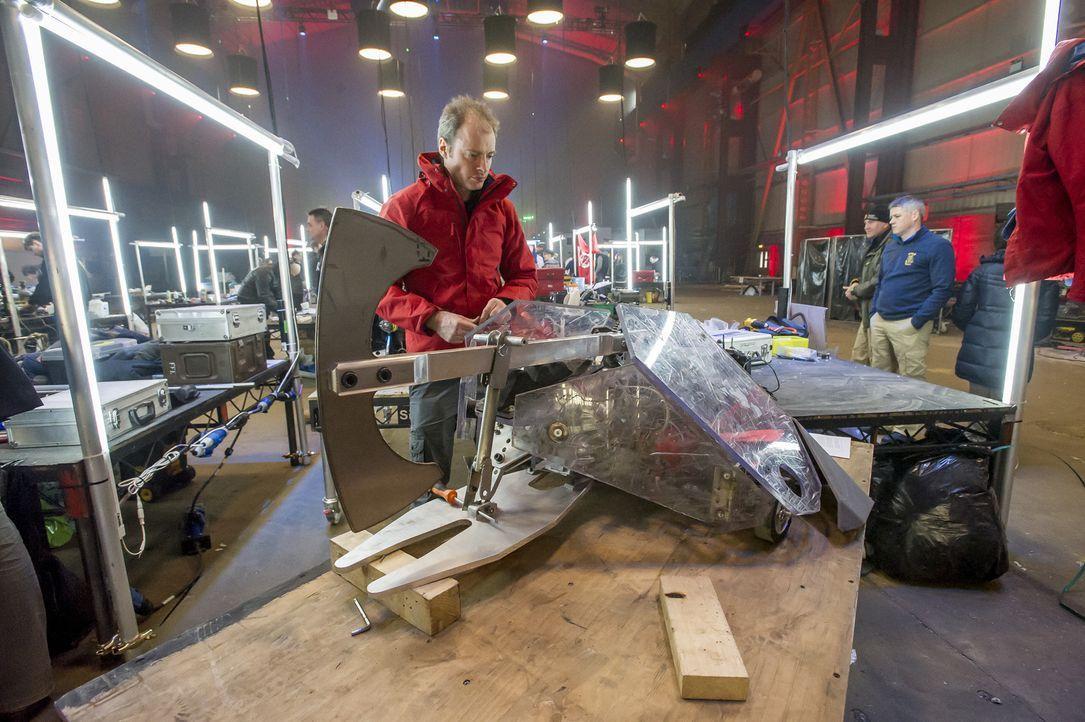 Ist der Roboter des Teams Terrorhurtz mit den richtigen Fähigkeiten ausgestattet, um seine Rivalen in der Kampfarena ausschalten zu können? - Bildquelle: Alan Peebles