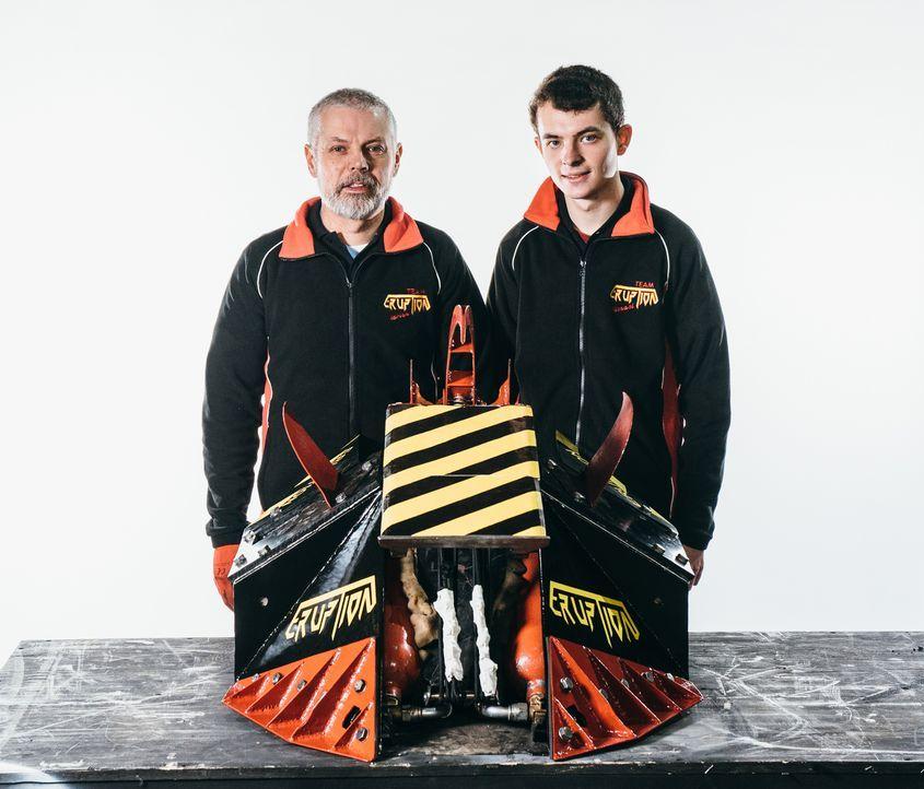 """Welche Chancen hat der selbst gebaute Roboter von Team Eruption in der Kampfarena von """"Robot Wars""""? - Bildquelle: Andrew Rae"""