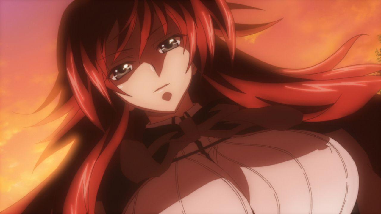 Nachdem der rothaarige Dämon Rias (Bild) den getöteten Issei wieder zum Leben erweckt, nimmt sie ihn in ihren Clan auf - ebenfalls als Dämon ... - Bildquelle: Ichiei Ishibumi . Miyama-Zero / Fujimi 1