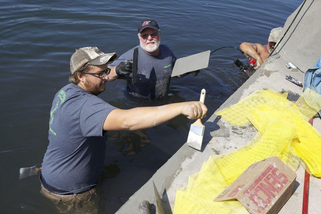 Die Herman Brothers haben ihr Hobby zum Beruf gemacht und blühen in ihrem Land and Lake Management vollkommen auf. Justins (l.) neues Projekt: Eine... - Bildquelle: 2013, DIY Network/Scripps Networks, LLC. All RIghts Reserved.