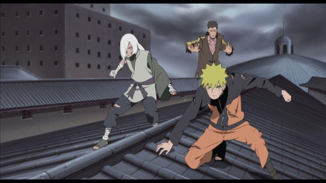 Naruto (r.) sitzt im Hochsicherheitstrakt des Hozuki-Schlosses fest und das, obwohl er gar nichts verbrochen hat. Um fliehen zu können, versucht er... - Bildquelle: 2002 MASASHI KISHIMOTO /2007 Shippuden   NMP 2011
