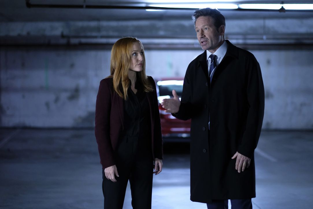 Scully (Gillian Anderson, l.) und Mulder (David Duchovny, r.) kommen dem wahren Ursprung der X-Akten nahe. Oder? - Bildquelle: Shane Harvey 2018 Fox and its related entities. All rights reserved. / Shane Harvey