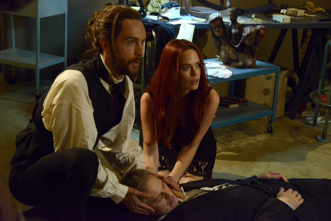 Der Tod eines Restaurateurs in Sleepy Hollow erinnert Ichabod (Tom Mison, l.) und Katrina (Katia Winter, r.) an die Vergangenheit ... - Bildquelle: 2014 Fox and its related entities. All rights reserved