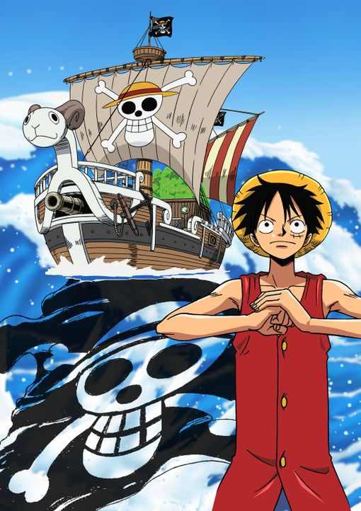 Schon immer wollte Monkey D. Ruffy ein richtiger Pirat sein. Kann die Gum-Gum-Frucht ihm dabei helfen? - Bildquelle: Eiichiro Oda/Shueisha, Toei Animation