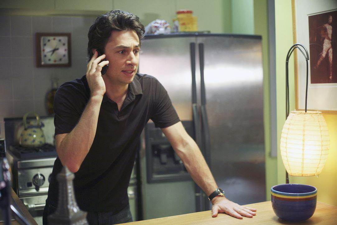 J.D. (Zach Braff) versucht, Kim davon abzubringen, die Stelle in Washington anzunehmen, indem er ihr seine volle Unterstützung zusichert ... - Bildquelle: Touchstone Television