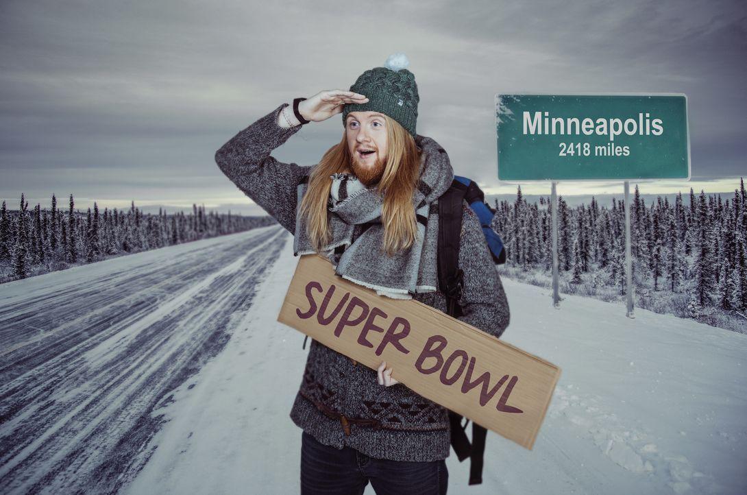 """Der 52. Super Bowl ruft! Da lässt sich Christoph """"Icke"""" Dommisch nicht lange bitten und berichtet für ProSieben über das Spiel um die begehrteste Fo... - Bildquelle: Martin Saumweber ProSieben / Martin Saumweber"""