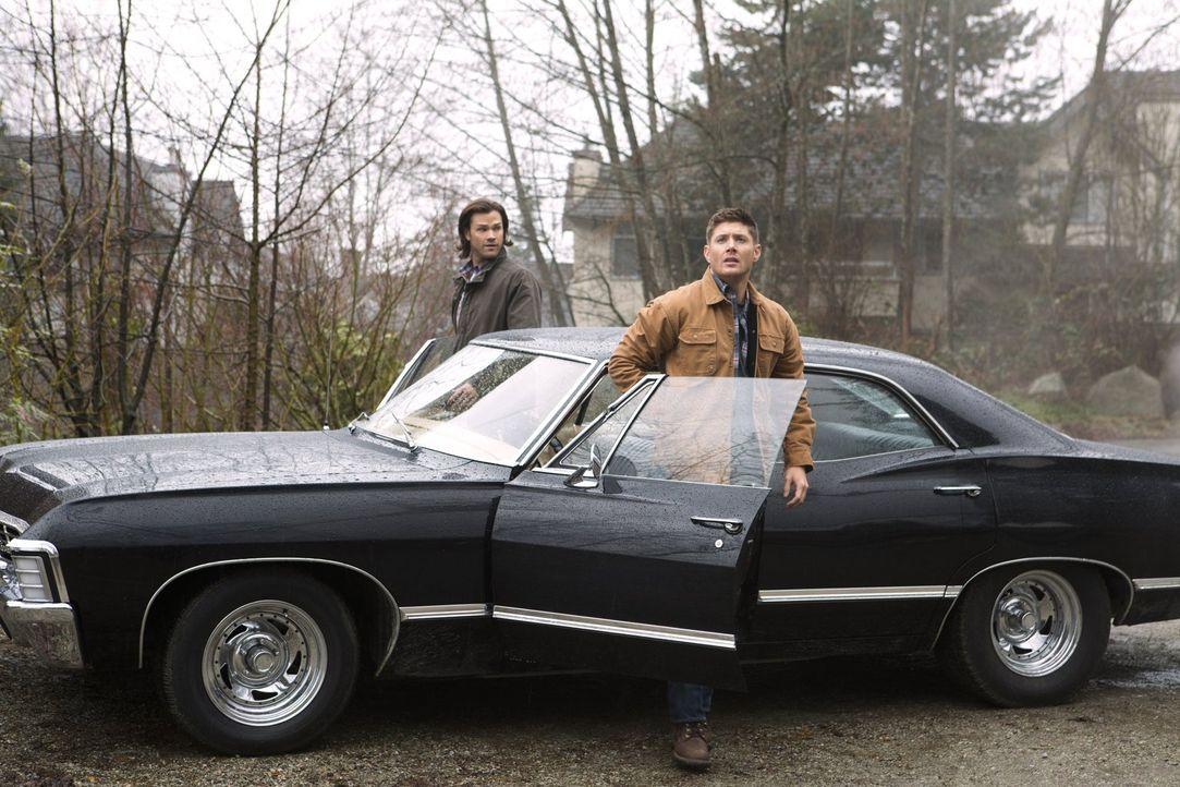 Laufen Sam (Jared Padalecki, l.) und Dean (Jensen Ackles, r.) tatsächlich mitten rein in Abaddons Falle? - Bildquelle: 2013 Warner Brothers