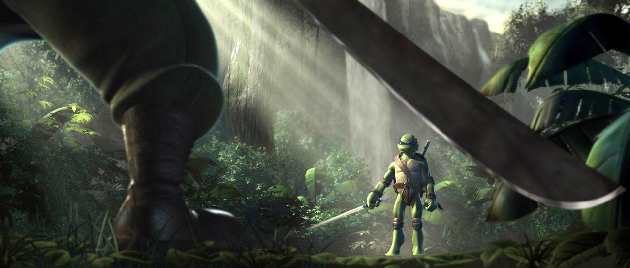 Leonardo, der älteste der Ninja-Turtles, hat New York verlassen und versucht im Dschungel, seine Kampftechniken zu verbessern, um nach seiner Rückke... - Bildquelle: TOBIS Filmkunst GmbH