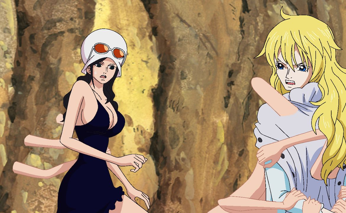 Nico Robin (l.); Cavendish (r.) - Bildquelle: Eiichiro Oda/Shueisha, Toei Animation