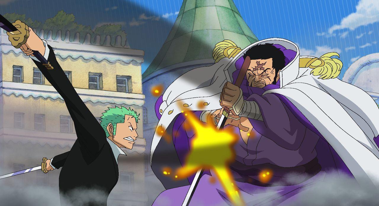 Zorro (l.); Kaptain Fujitora (r.) - Bildquelle: Eiichiro Oda/Shueisha, Toei Animation