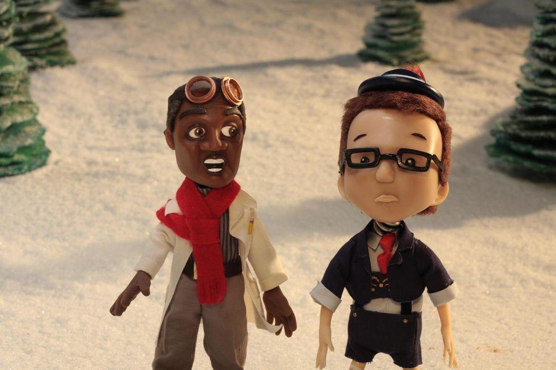 Seltsame Dinge geschehen in Eureka: Henry (l.) und Douglas (r.) ... - Bildquelle: Universal Television