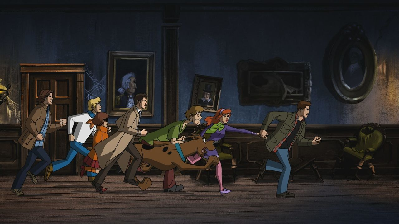 (v.l.n.r.) Sam; Fred; Velma; Castiel; Shaggy; Scooby-Doo; Daphne; Dean - Bildquelle: 2018 Warner Bros. Entertainment Inc.
