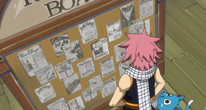 Natsu am Request-Board von Fairy Tail