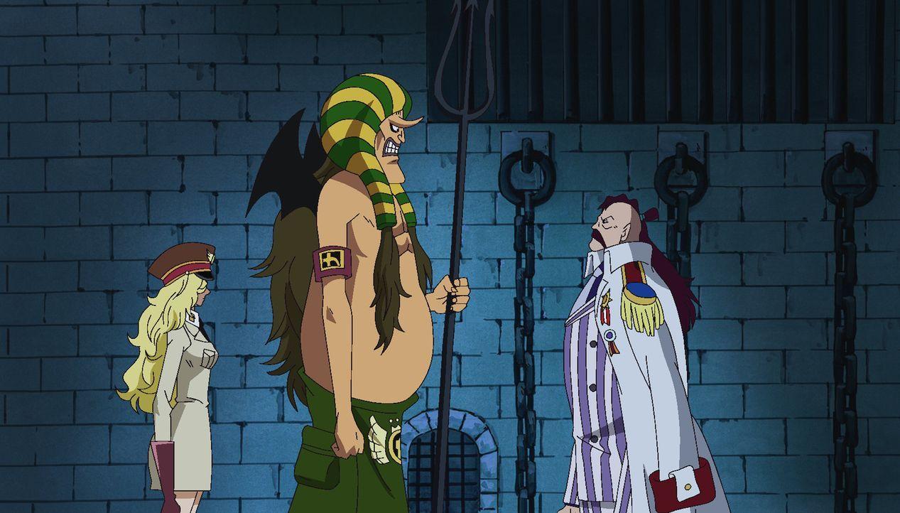 Ruffy ist endlich auf Impel Down angekommen, wo er seinen Bruder Ace vor dem... - Bildquelle: Eiichiro Oda/Shueisha, Toei Animation